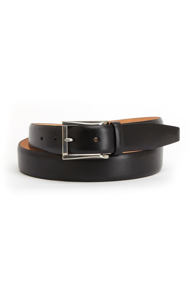 Broderick Black Leather Belt