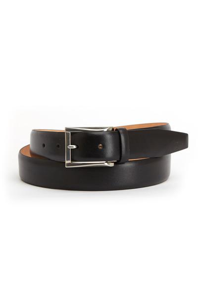 Trafalgar - Broderick Black Leather Belt