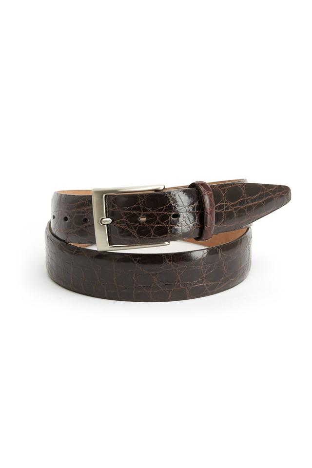 Brown Glazed Caiman Belt