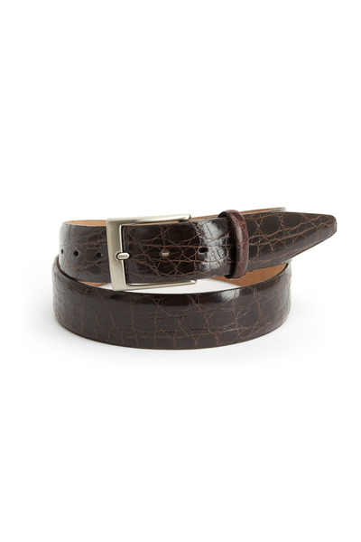 Torino - Brown Glazed Caiman Belt