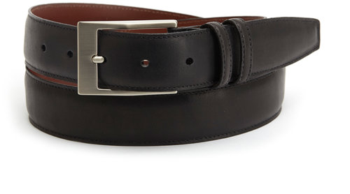Torino Black Leather Belt