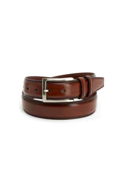 Torino - Antiqued Brown Leather Belt