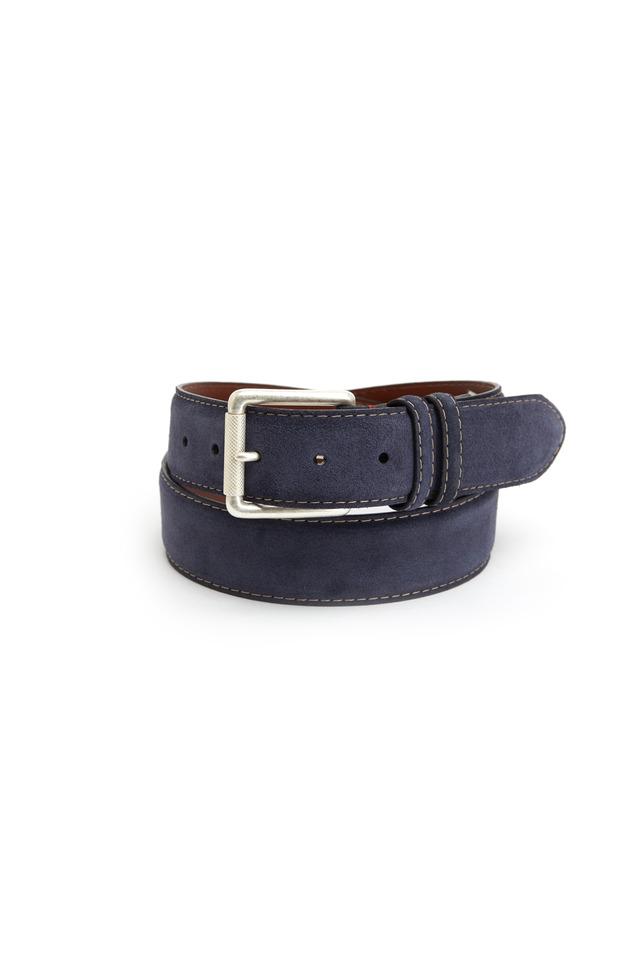 Navy Blue Suede Belt
