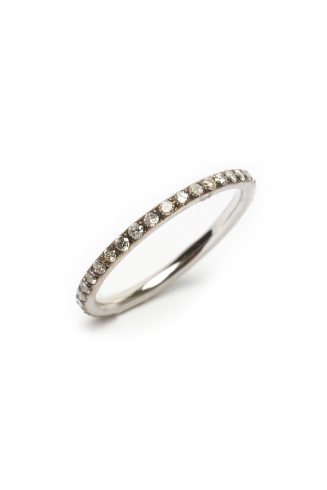 Rose Gold Diamond Tube Ring