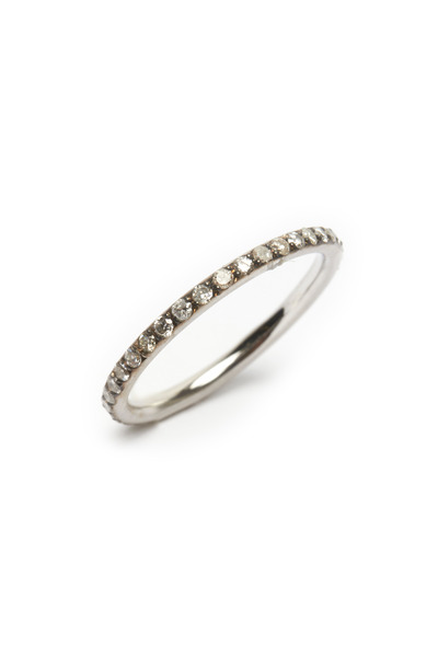 Sylva & Cie - Rose Gold Diamond Tube Ring