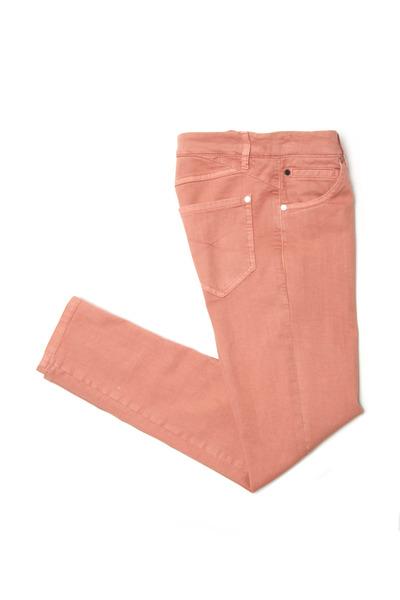 Brunello Cucinelli - Grapefruit Jean-Style Skinny Pants