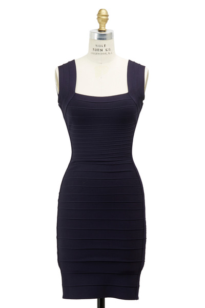 Herve Leger - Navy Blue Bandage Dress