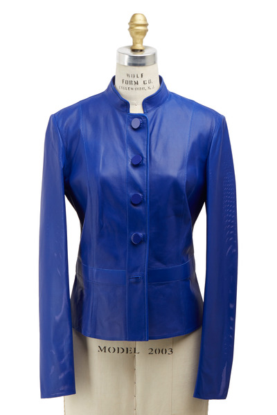 Giorgio Armani - Royal Blue Leather Jacket