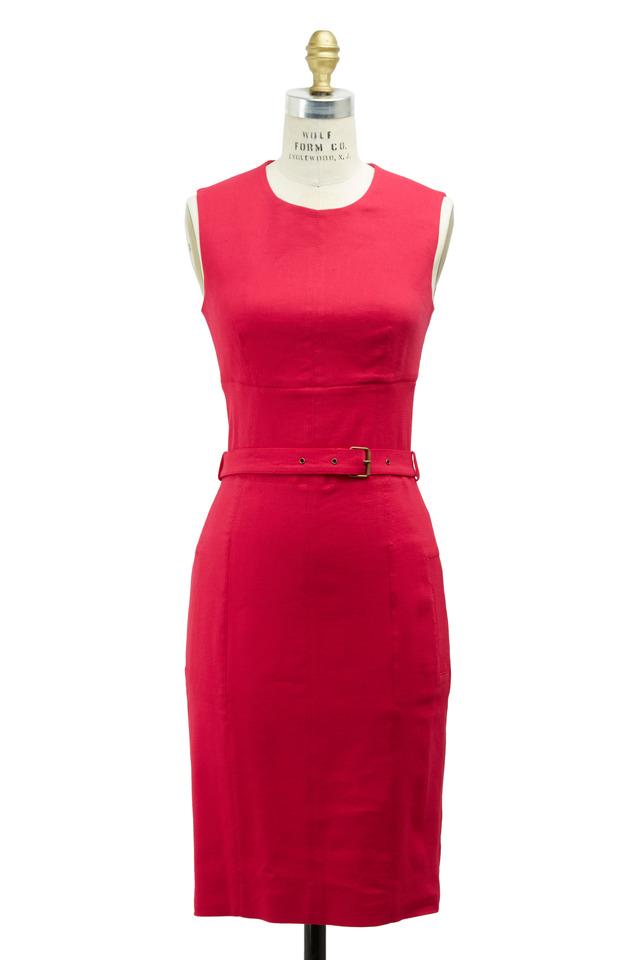 Fuchsia Linen Dress