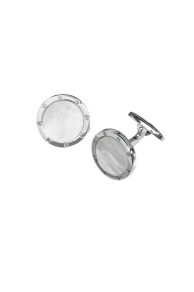 Jan Leslie - Sterling Silver Pearl Cuff Links