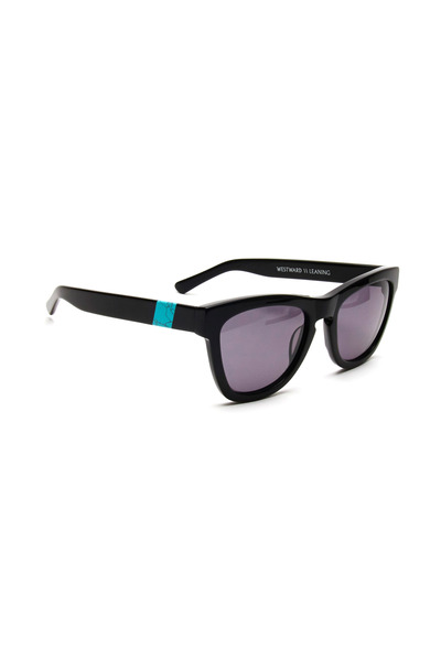 Westward Leaning - Black & Teal Sunglasses