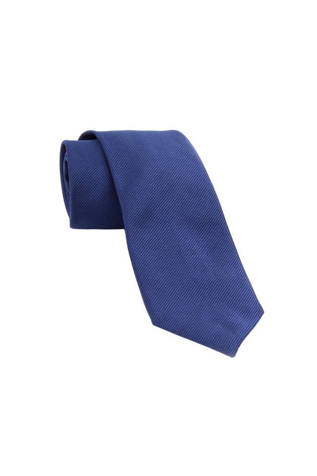 Royal Blue Woven Silk Necktie