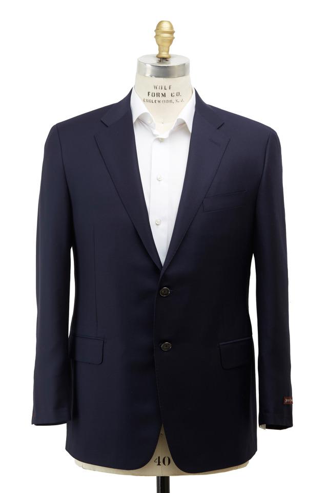 Navy Blue Wool Blazer