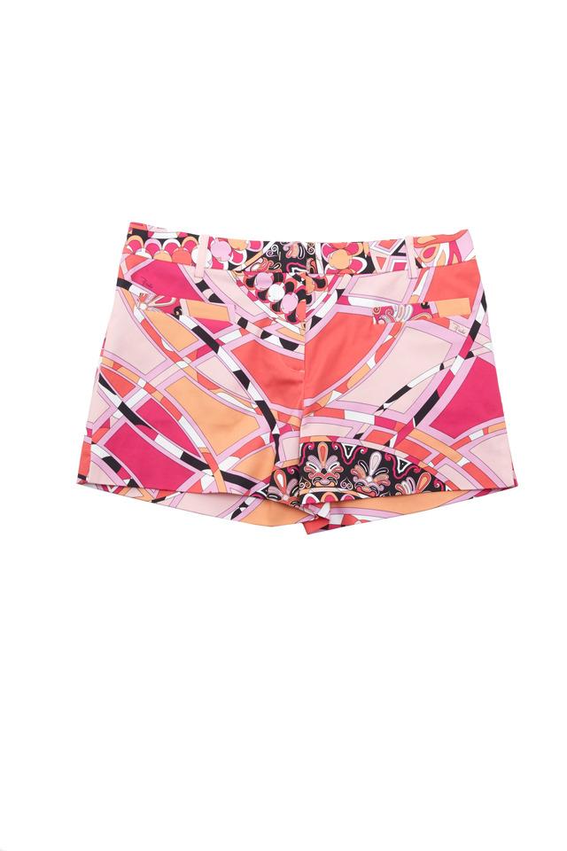 Pink Capri Print Cotton Shorts