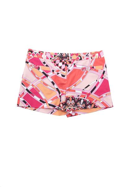 Pucci - Pink Capri Print Cotton Shorts