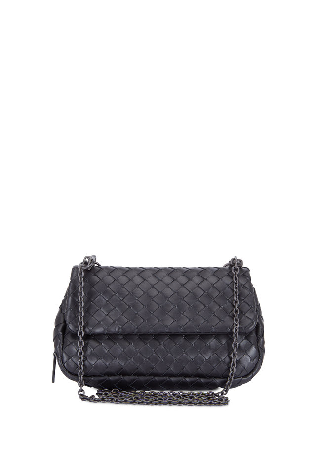 Black Leather Mini Crossbody