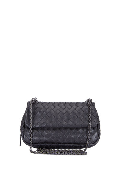 Bottega Veneta - Black Leather Mini Crossbody