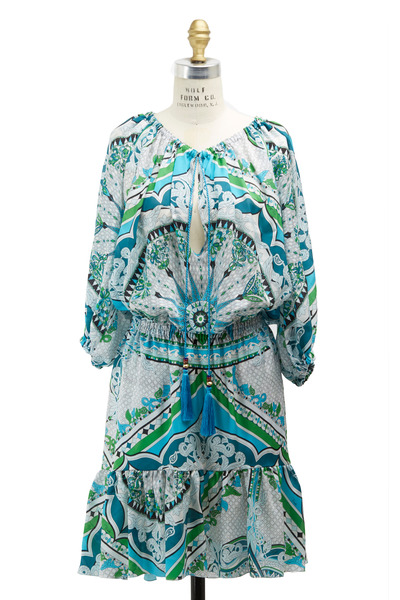 Pucci - Green Silk Dress