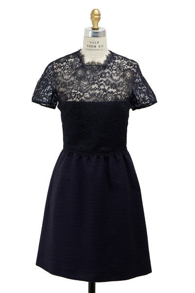 Valentino - Bambolino Navy Blue Tweed Dress