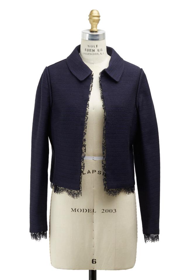 Panama Navy Blue Tweed Reversible Jacket