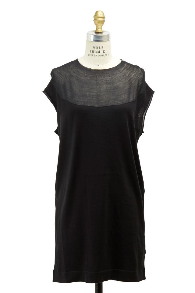 Black Silk & Cotton Dress
