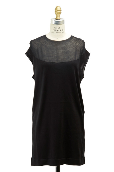 Agnona - Black Silk & Cotton Dress