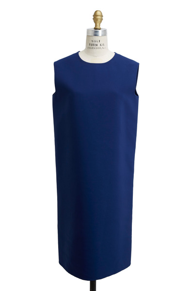 Agnona - Royal Blue Cotton & Nylon Dress