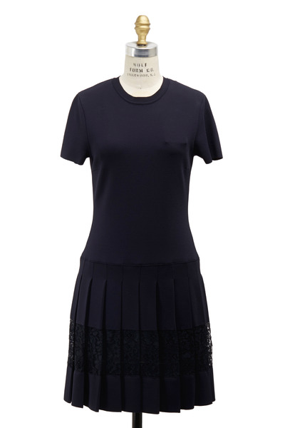 Valentino - Navy Blue Knit Dress
