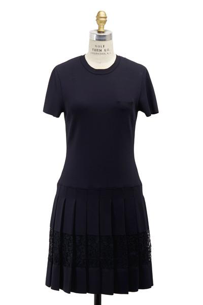 Valentino - Navy Blue Knit Dress