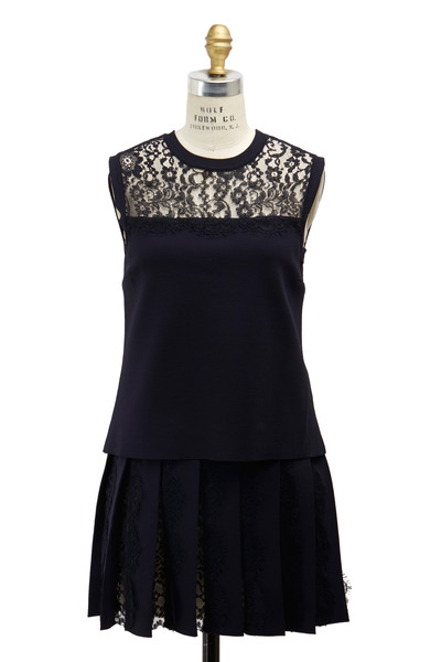 Valentino - Navy Blue Knit Top