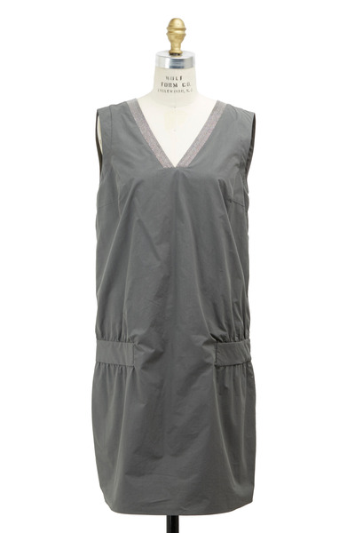 Brunello Cucinelli - Army Cotton Monili Dress