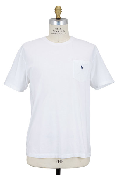 Polo Ralph Lauren - White Cotton Short Sleeve Crewneck T-Shirt