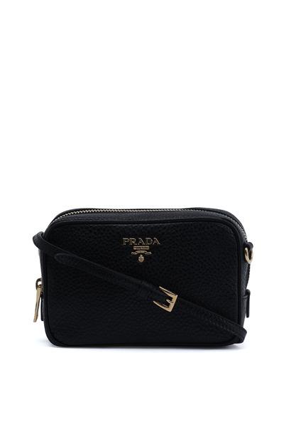 Prada - Black Leather Mini Camera Bag