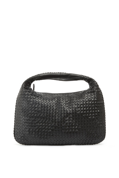 Bottega Veneta - Veneta Black Intrecciato Leather Large Hobo