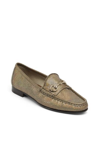 Gucci - Frame Metallic Iridescent Horsebit Loafers