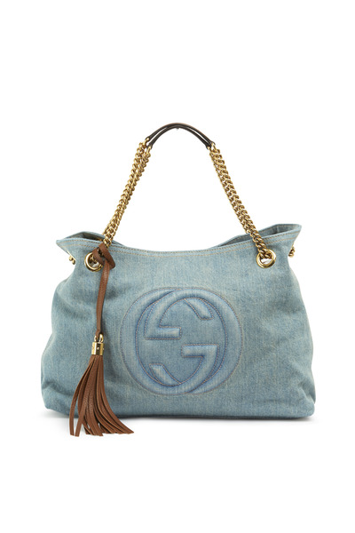 Gucci - Soho Light Denim Medium Tote
