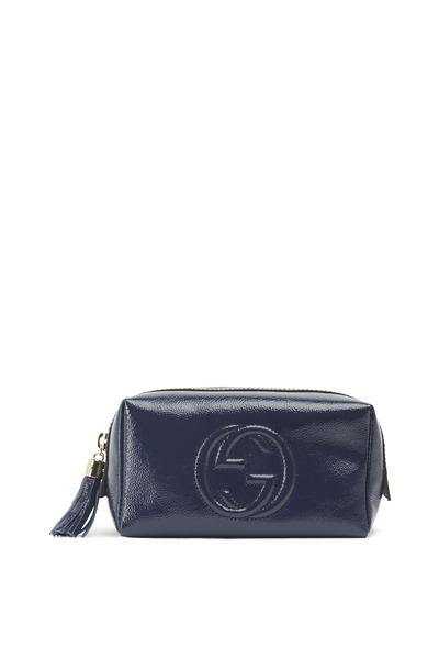 Gucci - Blue Patent Leather Soho Cosmetic Case