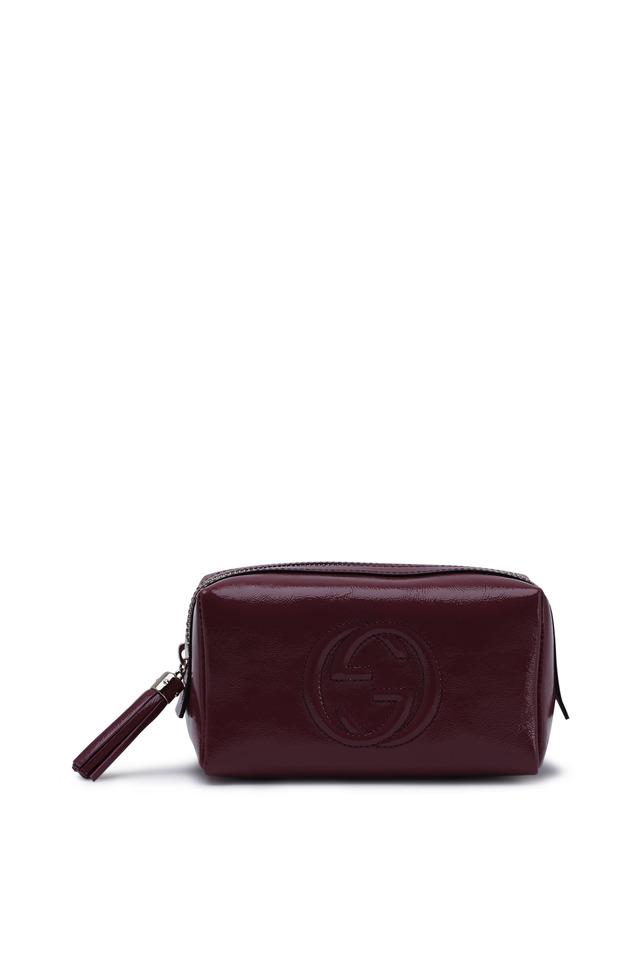 Fuchsia Patent Leather Soho Cosmetic Case