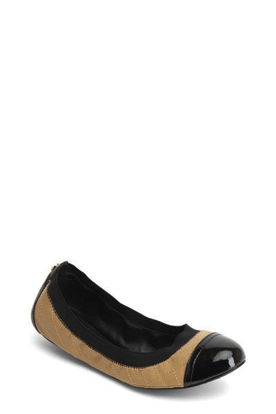 Tory Burch - Bridgette Natural Quilted Ballet Flat