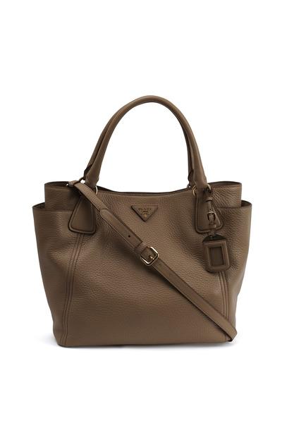 Prada - Natural Vitello Leather Tote