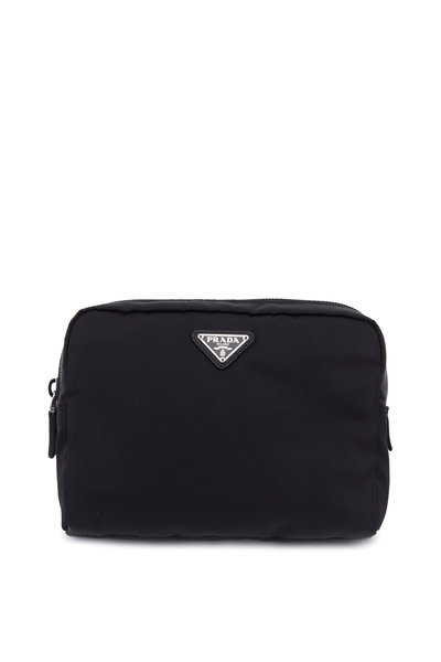Prada - Vela Black Nylon Large Cosmetic Case
