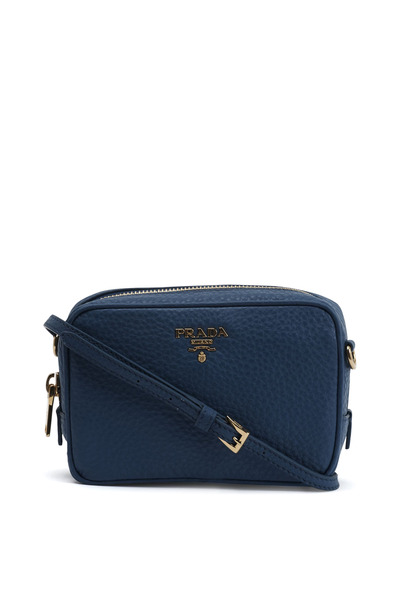 Prada - Blue Leather Mini Camera Bag
