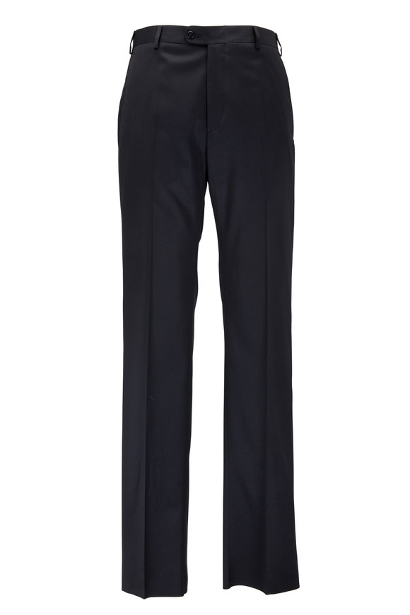 Zanella Todd Black Worsted Wool Pant