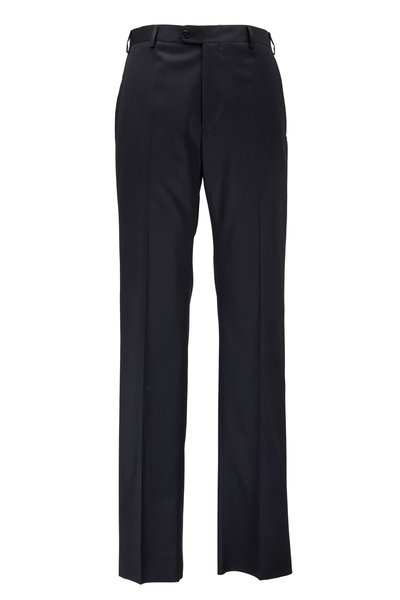 Zanella - Todd Black Worsted Wool Pant