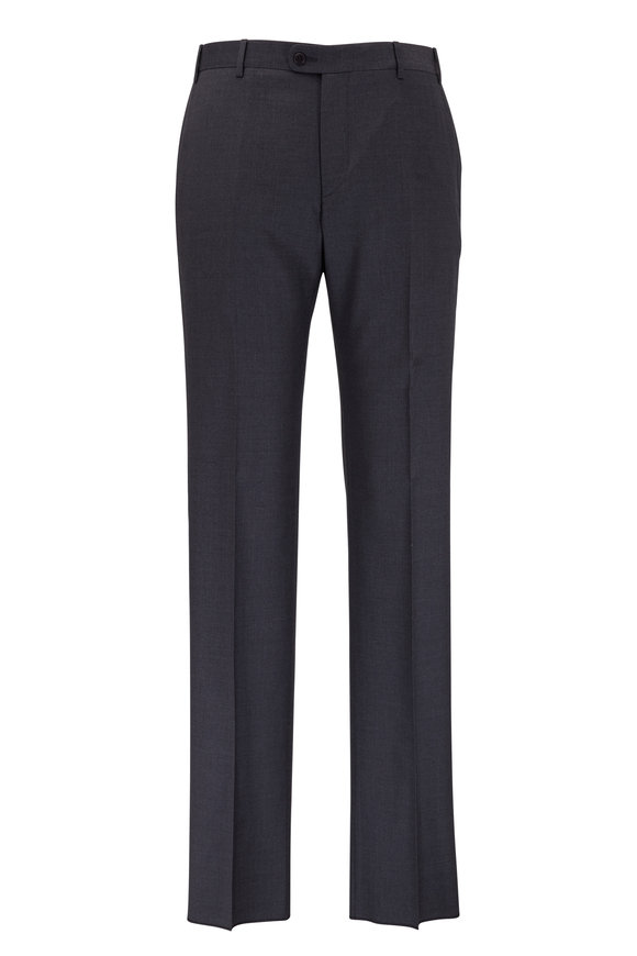Zanella Devon Gray Super 120's Wool Pant