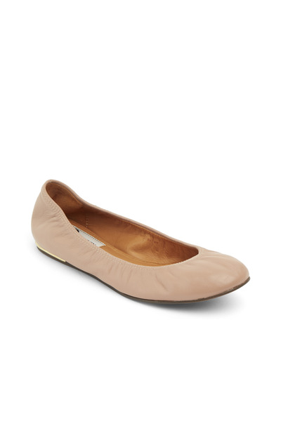 Lanvin - Classic Nude Leather Ballerinas