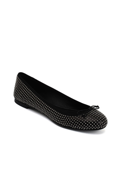 Saint Laurent - Dance Black Studded Leather Ballet Flats