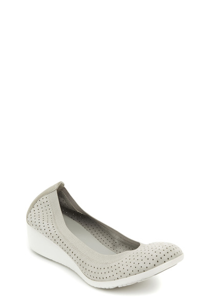Cole Haan - Gilmore Gray Suede Perforated Wedge, 40mm