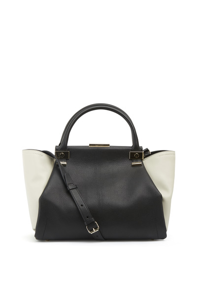 Lanvin - Trilogy Black & White Leather Zip Tote