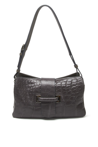 Mauro Governa - Gray Crocodile Shoulder Bag